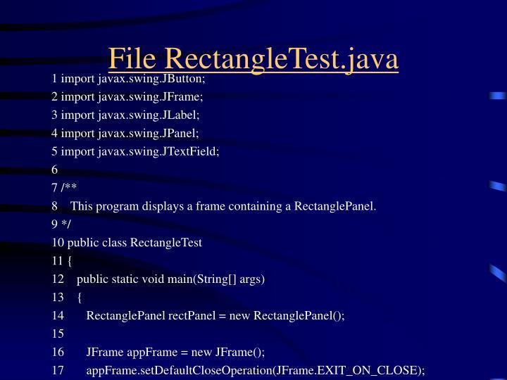 File RectangleTest.java