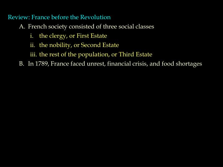 Review: France before the Revolution