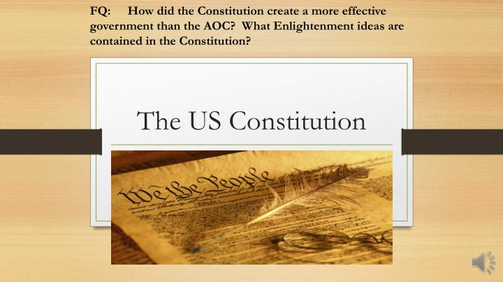 aoc vs the constitution essay The constitution, under article iii section i, allowed for a central court system, including one supreme court and a system of lower courts this would alleviate the dissention in the aoc court system and allow for cases to be heard and decided based on a central system of laws.