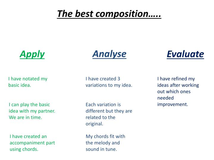 The best composition…..