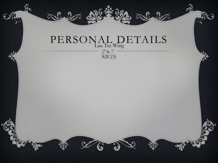 Personal Details