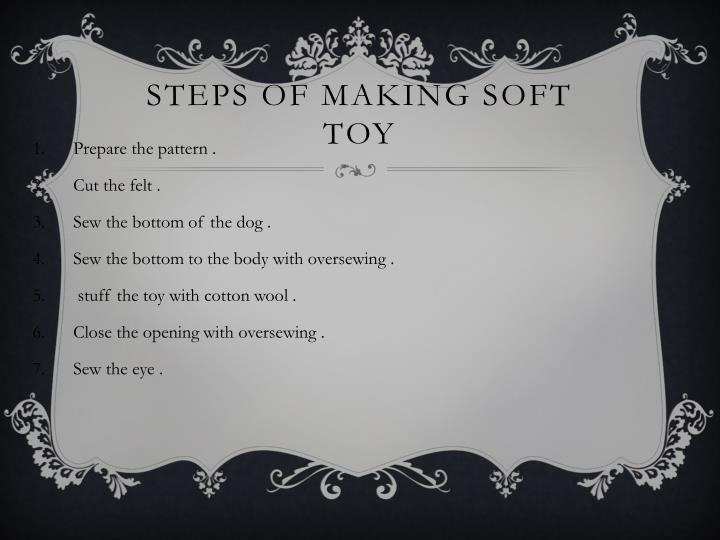 Steps of making soft toy