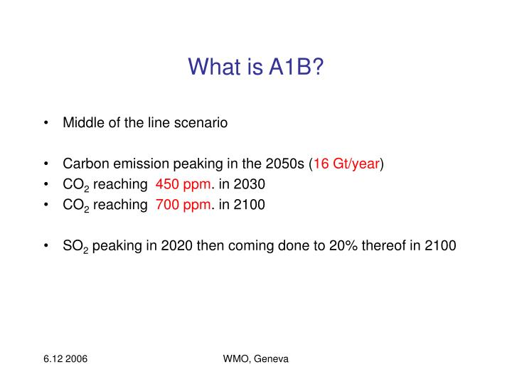 What is A1B?