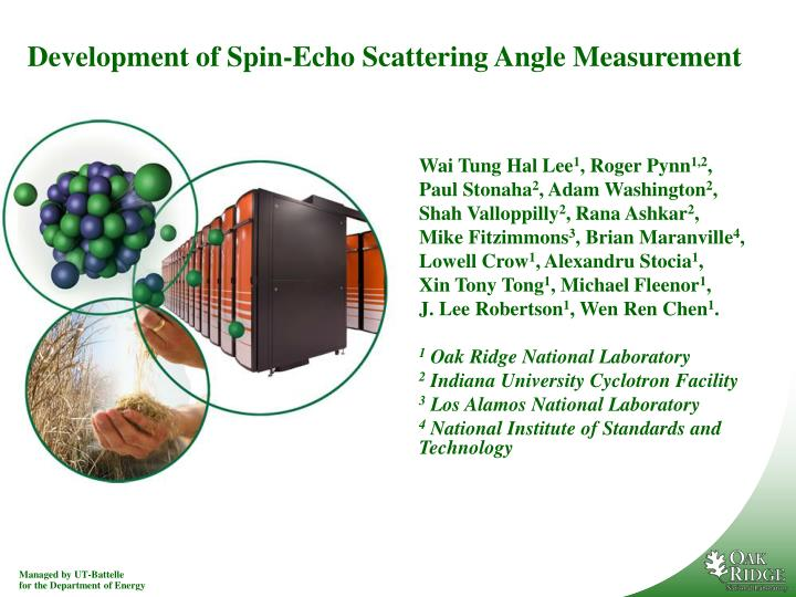 development of spin echo scattering angle measurement n.