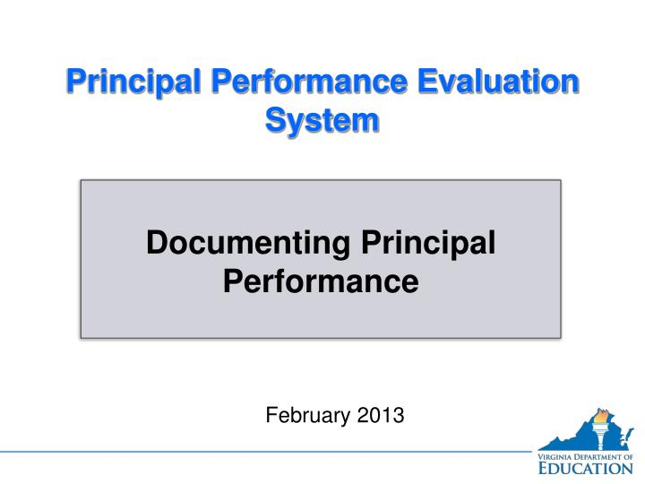 Ppt  Principal Performance Evaluation System Powerpoint