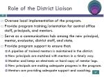role of the district liaison