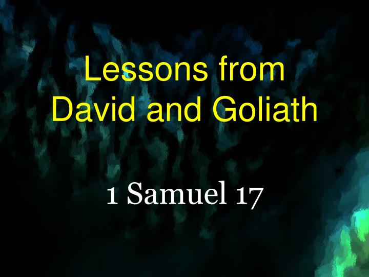 lessons from david and goliath n.