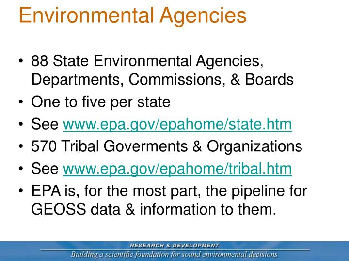 Environmental Agencies