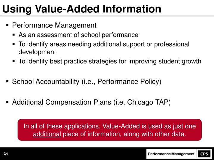 Using Value-Added Information