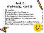 book 2 wednesday april 18