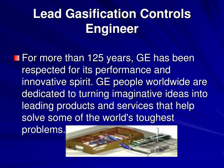 Lead Gasification Controls Engineer