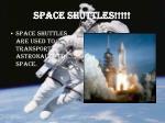 space shuttles