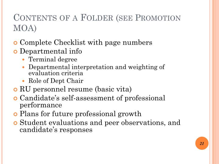 Contents of a Folder
