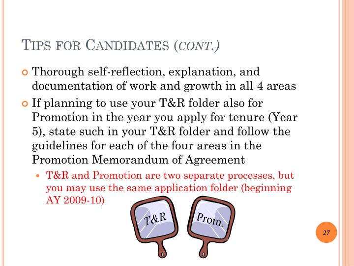 Tips for Candidates
