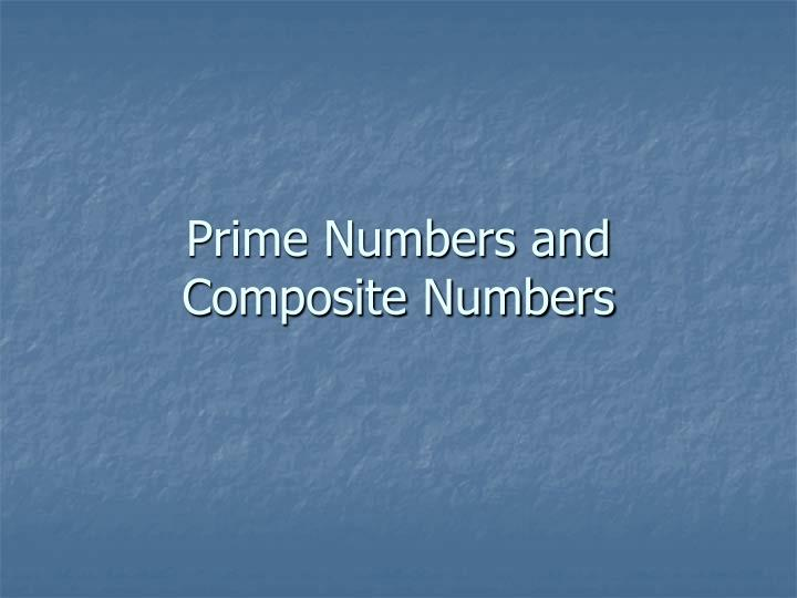 prime numbers and composite numbers n.