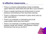 in effective classrooms
