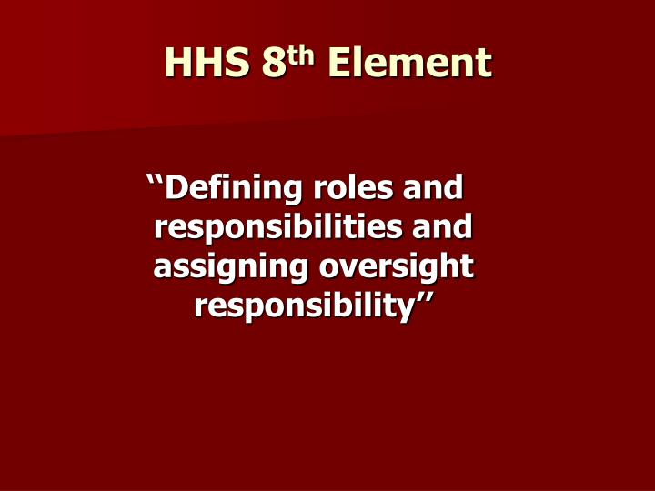 HHS 8