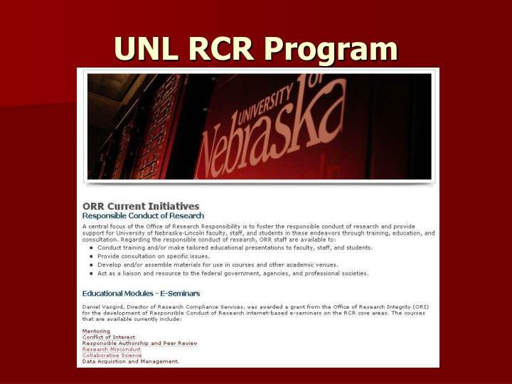 UNL RCR Program