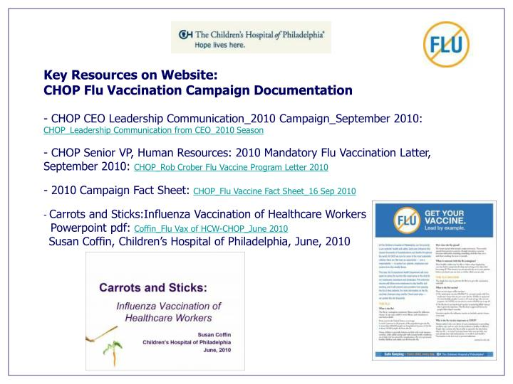 Key Resources on Website: