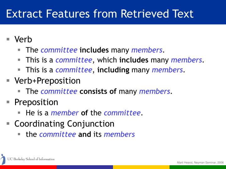 Extract Features from Retrieved Text