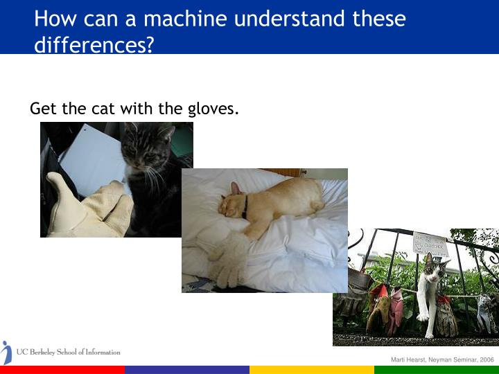 How can a machine understand these differences?