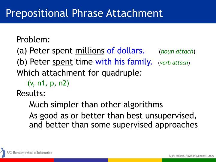 Prepositional Phrase Attachment