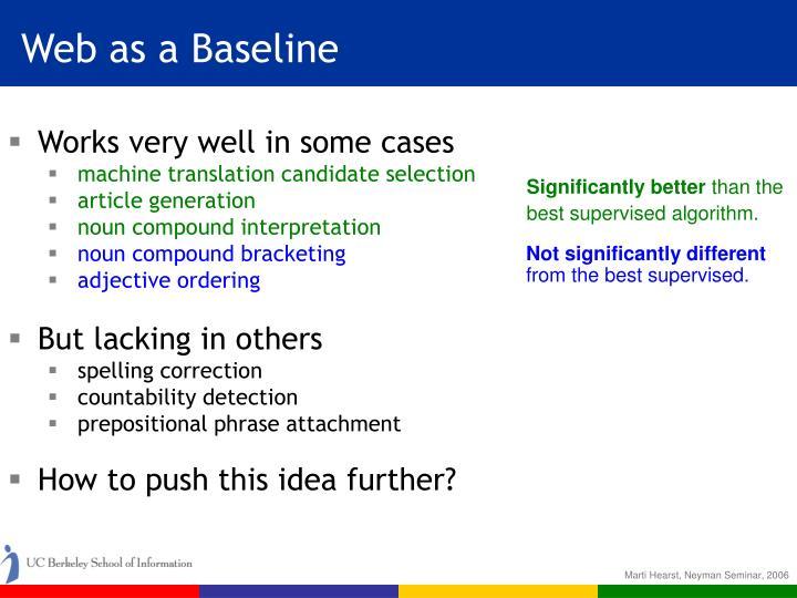 Web as a Baseline