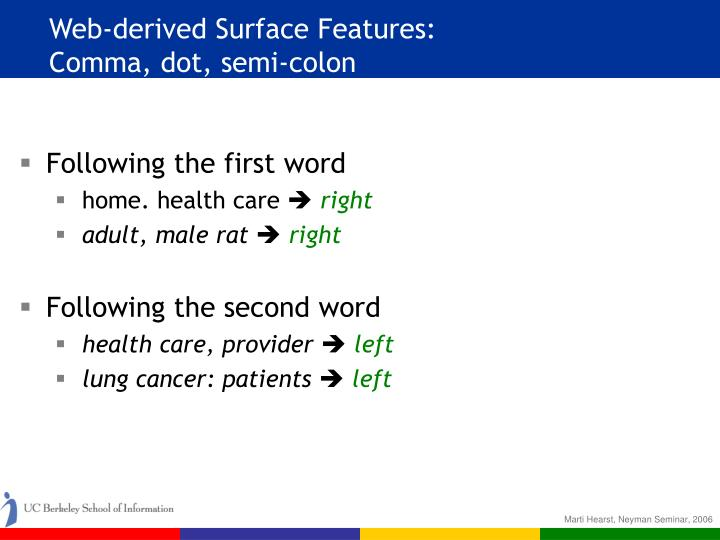 Web-derived Surface Features: