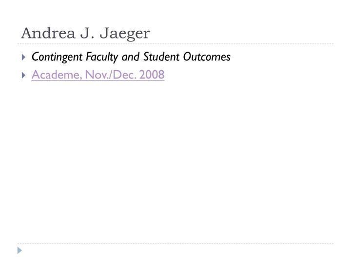 Andrea J. Jaeger