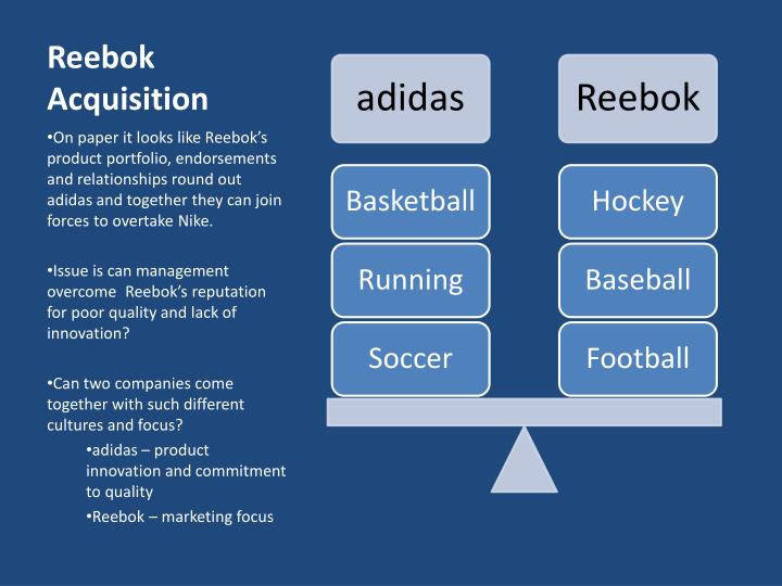 reebok market segmentation Reebok segmentation 1743 words | 7 pages  nike is the world 's #1 shoemaker and controls over 20% of the us athletic shoe market reebok reebok 's ancestor-based company came from the united kingdom and it was founded for one of the best reasons, to give athletes the best running shoes around 1890, joseph william foster made some of the.