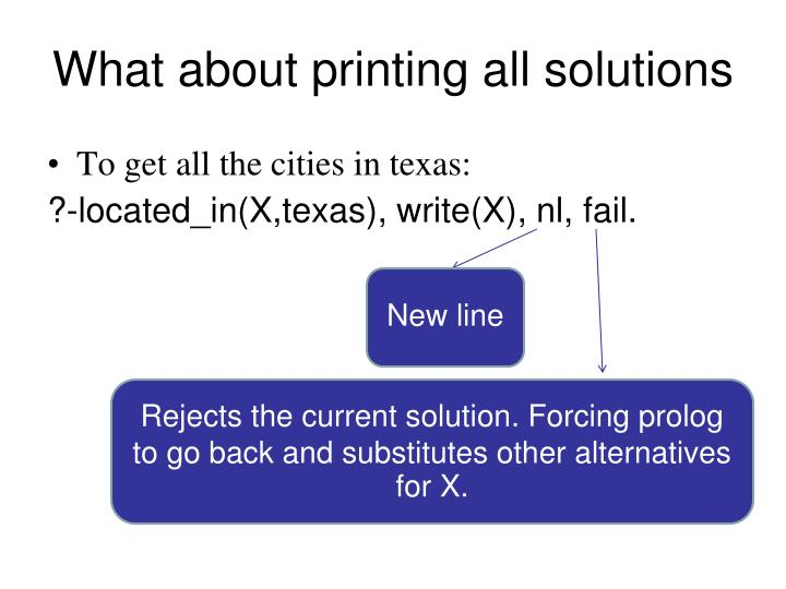What about printing all solutions