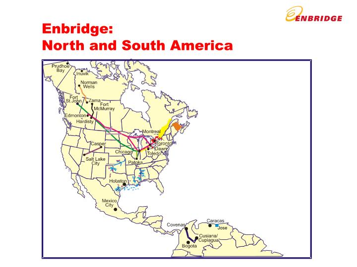 Enbridge north and south america