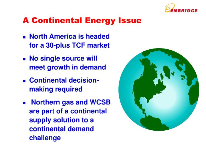 A Continental Energy Issue