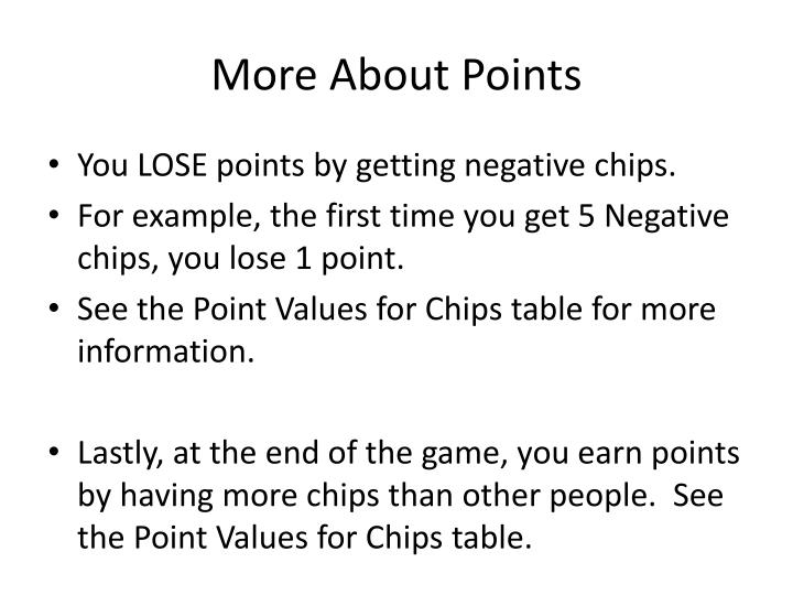 More about points