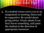 three safe zone tips2