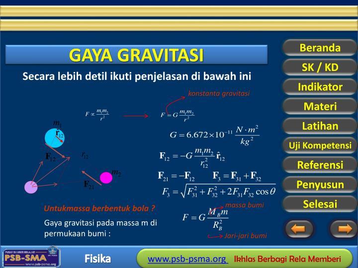 konstanta gravitasi