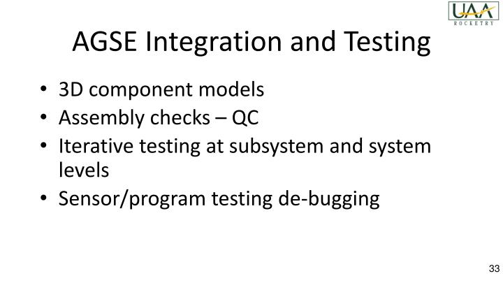AGSE Integration and Testing