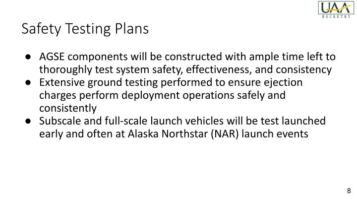 Safety Testing Plans