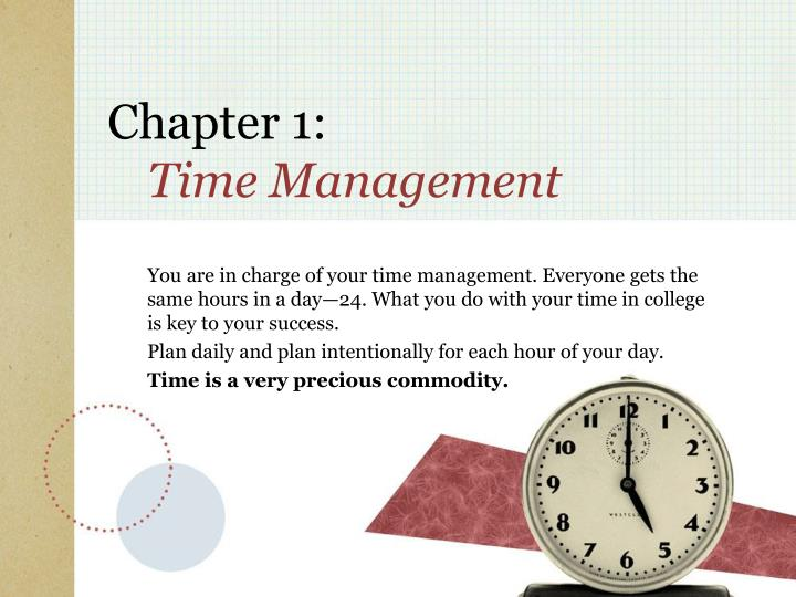 Chapter 1 time management