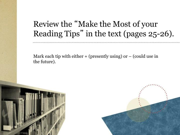 Review the