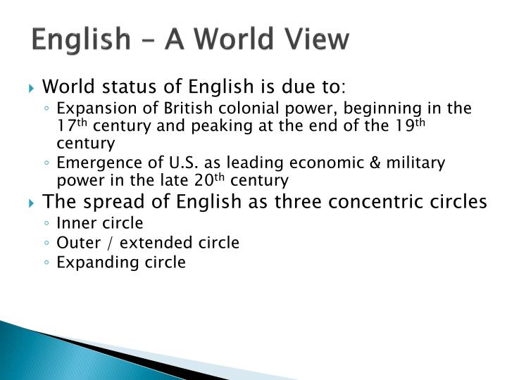 English – A World View