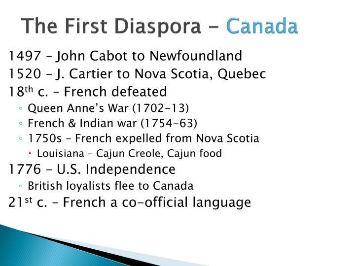 The First Diaspora -