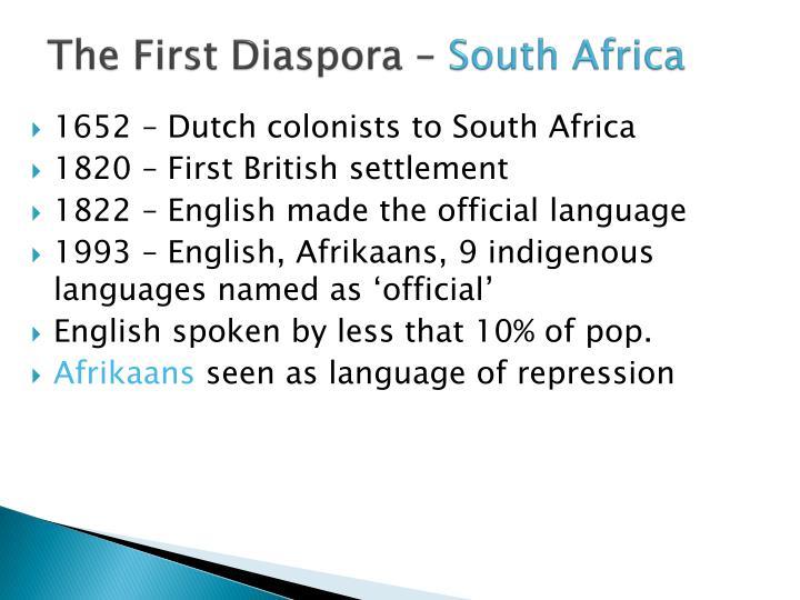The First Diaspora –