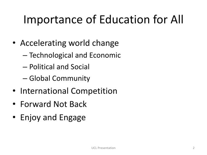 Importance of Education for All