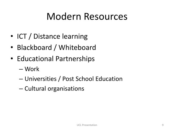 Modern Resources