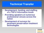 technical transfer