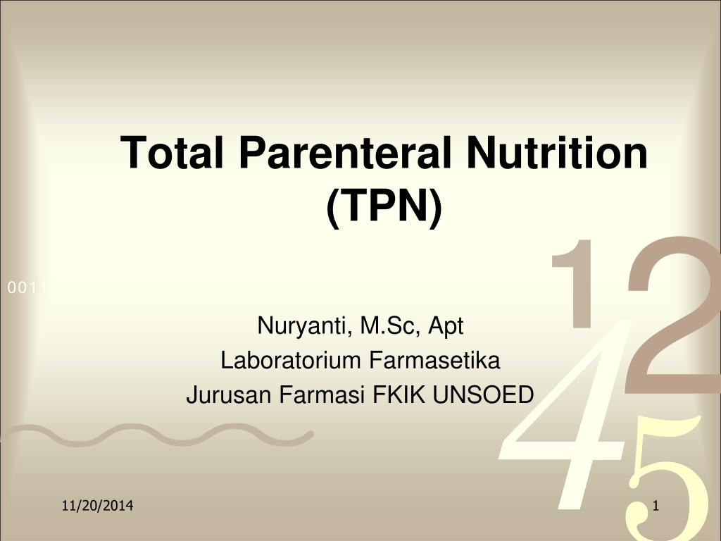 Ppt Total Parenteral Nutrition Tpn Powerpoint Presentation Free Download Id 6885639
