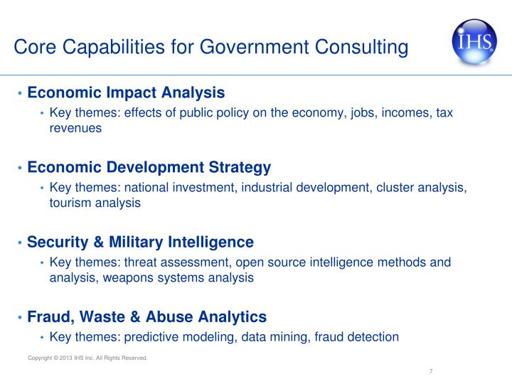 Core Capabilities for Government Consulting