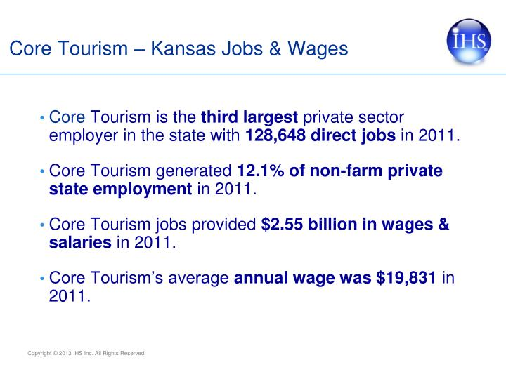 Core Tourism – Kansas Jobs & Wages