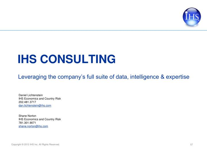 Leveraging the company's full suite of data, intelligence & expertise